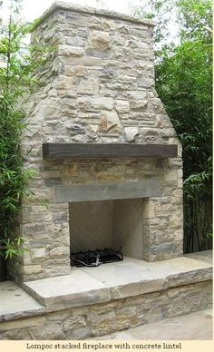 Lompoc stacked fireplace with concrete lintel - Tudor Stone & Brickwork - tudor. - Lompoc stacked fireplace with concrete lintel – Tudor Stone & Brickwork – tudorstoneandbric… - Outdoor Fireplace Patio, Outdoor Stone Fireplaces, Outside Fireplace, Outdoor Fireplace Designs, Fireplace Mantles, Outdoor Wood Burning Fireplace, Deck Fireplace, Concrete Fireplace, Wooden Pergola