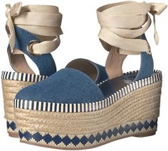 Tory Burch 'Dandy' Espadrille Wedge Sandals