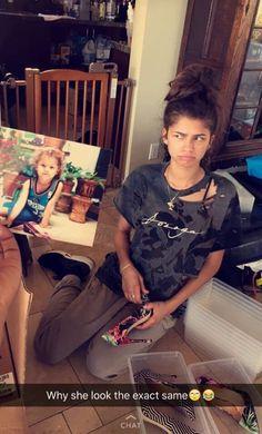 Zendaya on Deja's snapchat 8/13/16