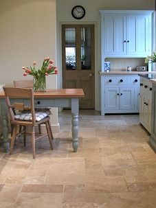 Rustic unselected Travertine in a deVOL kitchen