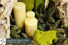 #Natale 2012: cesto con rami di abete e #candele