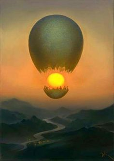Surrealist Paintings By Russian Artist Vladimir Kush Vladimir Kush, Fantasy Kunst, Fantasy Art, Wassily Kandinsky, Famous Impressionists, Surrealism Painting, Artist Painting, Visionary Art, Fine Art