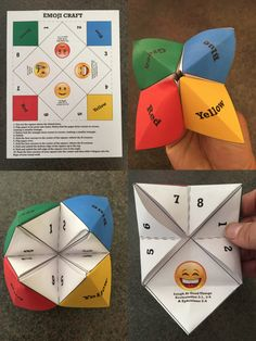 This FREE Emoji Origami Game is an awesome and fun way to help teach kids scripture. In each flap there are is a special Bible verse that connects with an Emoji. Origami Game, Instruções Origami, Origami Tattoo, Kids Origami, Party Emoji, Childrens Ministry Deals, Emoji Craft, Free Emoji, Vbs Themes