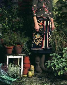 #garden #gardening #skirt #dress #outfit
