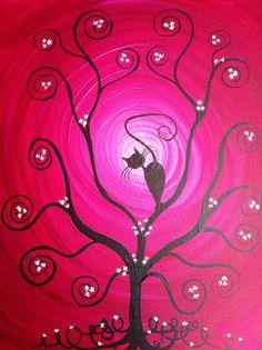 AMAZING!!!!!!!!!!!!!!   Original Whimsical Acrylic PaintingIn My Tree   by MichaelHProsper, $45.00
