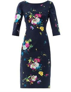 Erdem Cecile Dauphine night floral print dress