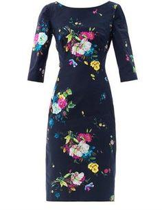 Erdem Cecile Dauphine night floral print dress Erdem