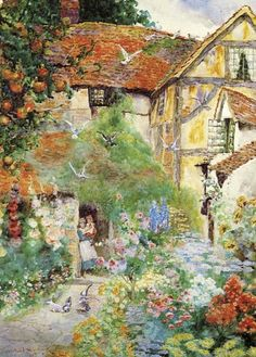 The 77 Best COTTAGE GARDEN PAINTINGS Images On Pinterest