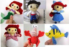 Little Mermaid, Prince, Crabby Friend and Fishy Friend Amigurumi Doll Crochet Patterns Discount Bundle