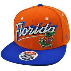 NCAA College Florida Gators Flat Bill Logo Snapback Zephyr Orange Blue Hat Cap by Zephyr. $29.99. Snap Back. Adjustable. Brand New Item with Tags. 35% Wool 65% Acrylic. Official Licensed Product. Stand out in the crowd AND own a hat that will last forever with this high quality hat made by the incomparable Zephyr brand. Team name and logo embroidered on front panel in 3D. Zephyr logo embroidered on left side panel. Features Snapback closure, flat bill, and green underbrim. Auth...