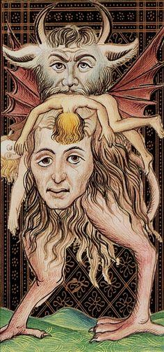 XV. The Devil: Visconti Tarot