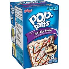 Kellogg's Pop-Tarts Frosted Hot Fudge Sundae Toaster Pastries, 8 count, 13.5 oz