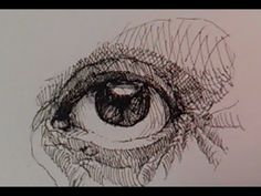 Pen and Ink Drawing Tutorials | How to draw a realistic eye Part I - YouTube
