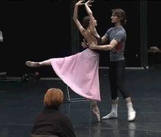 Rehearsals for John Cranko's 'Onegin' at the Bolshoi Theatre. Olga Smirnova and Vladislav Lantratov - Tatiana and Onegin