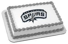 NBA+San+Antonio+Spurs+Edible+Image+Cake+Topper+by+ABirthdayPlace,+$8.99