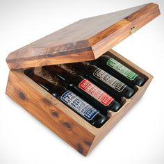 Cool gift set idea. Woodworking project.