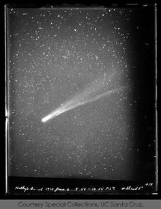 Halley's Comet: view from Lick Observatory :: Lick Observatory Records Digital Archive