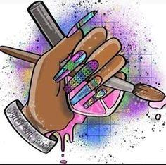 Nail Salon Design, Nail Salon Decor, Nail Shapes Square, Ruby Nails, Nail Parlour, Diy Acrylic Nails, Airbrush Nails, Nail Logo, Instagram Nails