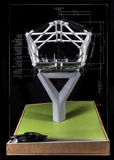 'Northgate Pedestrian Bridge Model' (Photograph courtesy of LMN Architects)