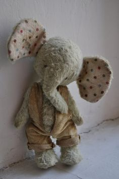 Handmade Elephant doll/plush toy by Diana Yunusov