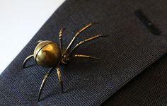 Kevin Crane Spider Brooch...for Men.