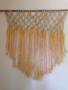 Macrame Bohemian Textile Wall Hanging by lovewildevintage on Etsy, $200.00