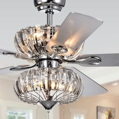 Shop for Fredix Speckled Bronze Ceiling Fan with Hooded Crystal Chandelier (Remote Controlled & 2 Color Option Blades). Get free delivery On EVERYTHING* Overstock - Your Online Ceiling Fans & Accessories Store! Get in rewards with Club O! Ceiling Fan Chandelier, Silver Chandelier, Ceiling Lights, Ceiling Ideas, Crystal Chandeliers, Ceiling Decor, 52 Inch Ceiling Fan, Ceiling Fan With Remote, Light Fixture Parts