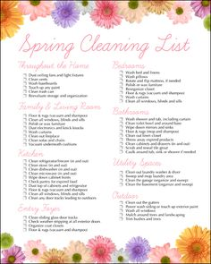 Spring Cleaning Checklist Free Printable...