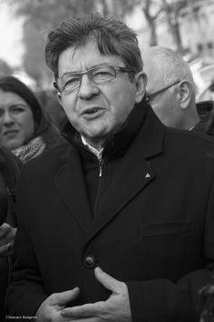 Jean-Luc Mélenchon - Jean-Luc Mélenchon, membre du Parti de Gauche et député européen, à la manifestation de la fonction publique. 26 janvier 2016. Boulevard des Invalides, Paris 7e.