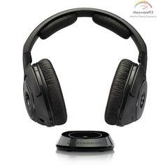 Sennheiser RS 160 Over-Ear Wireless Over-Ear Headphones - Black Wireless Headphones For Tv, Over Ear Headphones, Best Surround Sound, Bluetooth, Home Cinemas, Digital Camera, Headset, Stuff To Buy