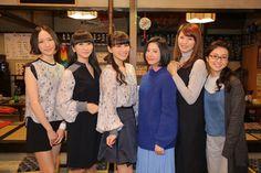 (左から)のっち、かしゆか、あ~ちゃん、吉高由里子、榮倉奈々、大島優子(C)日本テレビ