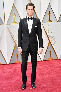 Andrew Garfield in Tom Ford at the 89th Annual Academy Awards. Photo: Frazer Harrison/Getty Images.