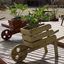 Resultado de imagen para macetas de madera rustica