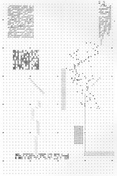 """"""" Archizoom No-Stop City (1969) The plans for Archizoom 's 1969 No-Stop City were typed out on a typewriter. The plan emerged from limitations of typesetting: leading, tabs, indentation, and..."""