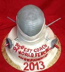 fencing cakes - Google Search Fencing Sport, Pin Tool, Sport Cakes, Specialty Cakes, Novelty Cakes, Cupcakes, Occasion Cakes, Frozen Party, Amazing Cakes