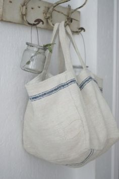 vintage linen bags