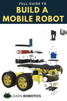 How to Build a Mobile Robot Using Arduino - PintoPin Learn Robotics, Robotics Engineering, Robotics Projects, Electronic Engineering, Simple Electronic Circuits, Electronic Circuit Design, Simple Electronics, Electronics Projects, Arduino Parts