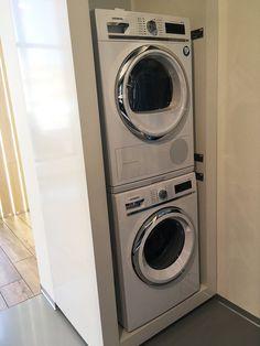 Interiérové štúdio URGELA. Interiéry na mieru HANÁK. Spotrebiče do domácnosti rôznych značiek. #kuchyne #interiery #nabytok  #interierovedvere #spotrebice Stacked Washer Dryer, Washer And Dryer, Laundry, Home Appliances, Laundry Room, House Appliances, Washing And Drying Machine, Appliances, Laundry Rooms