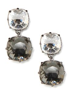 Play the part of a glam princess with these gorgeous crystal drop earrings. But cast in sparkling white and steel-gray hues, they're plenty street-chic too.