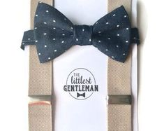 Little boys bow ties, suspenders and ties for weddings. by TheLittlestGentleman Baby Boy Suspenders, Bowtie And Suspenders, Leather Suspenders, Green Bow Tie, Floral Bow Tie, Kids Ties, Boys Bow Ties, Boy Photos, Family Photos