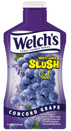 Welch's 100% Juice Slush by Cool Tropics – Concord Grape