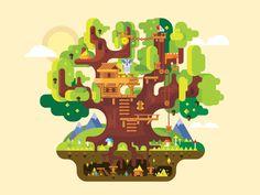 Fabulous tree house by Anton Frizler (Kit8)