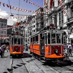When in Turkey, don't forget to ride the nostalgic tramway that goes along İstanbul's most famous street of Istiklal!