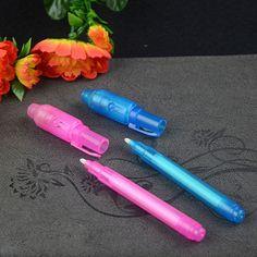 4x Spy Pen Invisible Ink UV Light Magic Secret Messages Party Kids UK