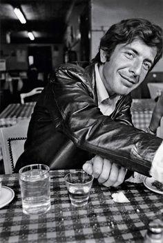 Young Leonard Cohen.