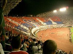 Inter vs Hajduk Spalato in Europa League Hnk Hajduk Split, Football Stadiums, National Championship, Europa League, Old Pictures, Basketball Court, Derby, Sports, Google Search