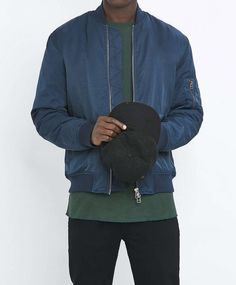 Loom Armstrong Nylon Blue Bomber Jacket