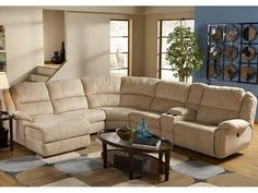Cardiu0027s Furniture - 6pc Rcln Sectional - 1999.99 - 150740011 : cardis sectionals - Sectionals, Sofas & Couches
