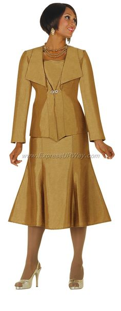 Bronze Womens Church Suit