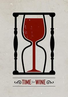 """""""Time For Wine"""" poster design by Swedish graphic designer Viktor Hertz Wine Time, Graphisches Design, Logo Design, Clever Design, Smart Design, Wine Quotes, Wine Sayings, Graphic Design Inspiration, Graphic Design Posters"""
